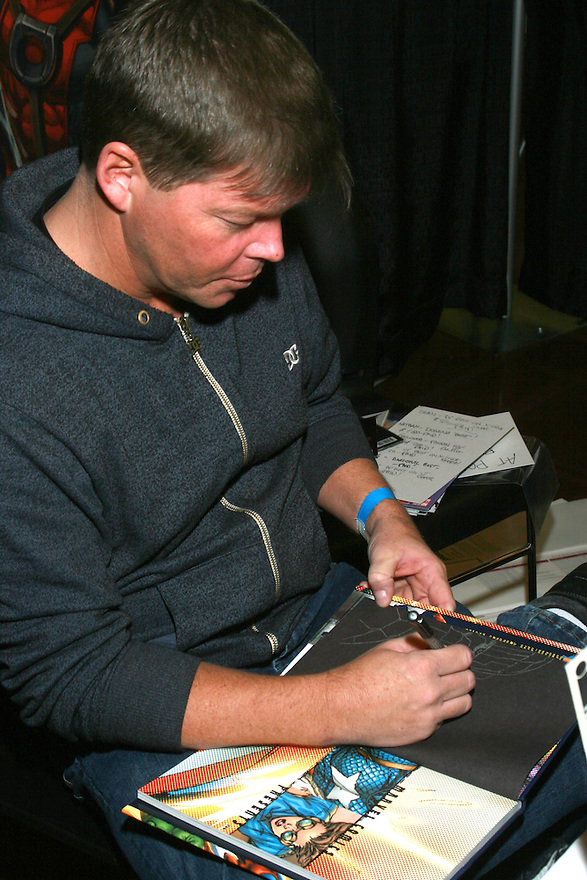 Rob Liefeld Creator of Dead Pool signing at the Amazing Comic Con in Mesa, AZ Saturday January 8, 2011..Photo by AJ Alexander