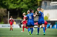 Seattle, WA - Saturday May 13, 2017: Nahomi Kawasumi during a regular season National Women's Soccer League (NWSL) match between the Seattle Reign FC and the Washington Spirit at Memorial Stadium.