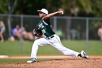 Farmingdale State Rams David Otero Jr. during a game against the U-Mass Boston Beacons at North Charlotte Regional Park on March 19, 2015 in Port Charlotte, Florida.  U-Mass Boston defeated Farmingdale 9-5.  (Mike Janes/Four Seam Images)