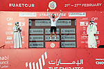 Race leader Tadej Pogacar (SLO) UAE Team Emirates wins Stage 3 and retains the White Jersey of the 2021 UAE Tour running 166km from Al Ain to Jebel Hafeet, Abu Dhabi, UAE. 23rd February 2021.  <br /> Picture: LaPresse/Gian Mattia D'Alberto | Cyclefile<br /> <br /> All photos usage must carry mandatory copyright credit (© Cyclefile | LaPresse/Gian Mattia D'Alberto)