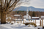 A beautiful snowy day in Tamworth, Lakes Region, NH
