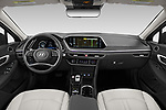 Stock photo of straight dashboard view of 2020 Hyundai Sonata Limited 4 Door Sedan Dashboard