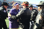 December 30, 2016: TCU head coach Gary Patterson and Georgia head coach Kirby Smart meet at midfield after the AutoZone Liberty Bowl at Liberty Bowl Memorial Stadium in Memphis, Tennessee. ©Justin Manning/Eclipse Sportswire/Cal Sport Media