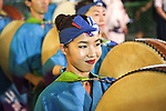 August 24, 2019, Tokyo, Japan: The 63rd Tokyo Koenji Awa-Odori Dance Festival takes place the last weekend of August. (Photo by Michael Steinebach/AFLO)