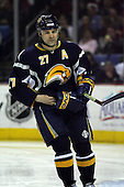 February 17th 2007:  Teppo Numminen (27) of the Buffalo Sabres takes a break in action vs. the Boston Bruins at HSBC Arena in Buffalo, NY.  The Bruins defeated the Sabres 4-3 in a shootout.