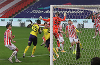 Huddersfield Town's Mouhamadou Naby Sarr scores his side's third goal <br /> <br /> Photographer Mick Walker/CameraSport<br /> <br /> The EFL Sky Bet Championship - Stoke City v HUddersfield Town - Saturday 21st November 2020 - bet365 Stadium - Stoke<br /> <br /> World Copyright © 2020 CameraSport. All rights reserved. 43 Linden Ave. Countesthorpe. Leicester. England. LE8 5PG - Tel: +44 (0) 116 277 4147 - admin@camerasport.com - www.camerasport.com