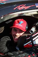 May 11, 2019; Tucson, AZ, USA; NASCAR K&N Pro Series driver Tanner Gray during the Twin 100s at Tucson Speedway. Mandatory Credit: Mark J. Rebilas-USA TODAY Sports
