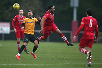 George Porter of Maidstone and Rickie Hayles of Hornchurch during Hornchurch vs Maidstone United, Buildbase FA Trophy Football at Hornchurch Stadium on 6th February 2021
