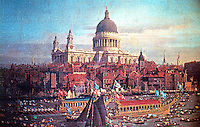 London: St. Paul's Cathedral by Canaletto.  Reference only.