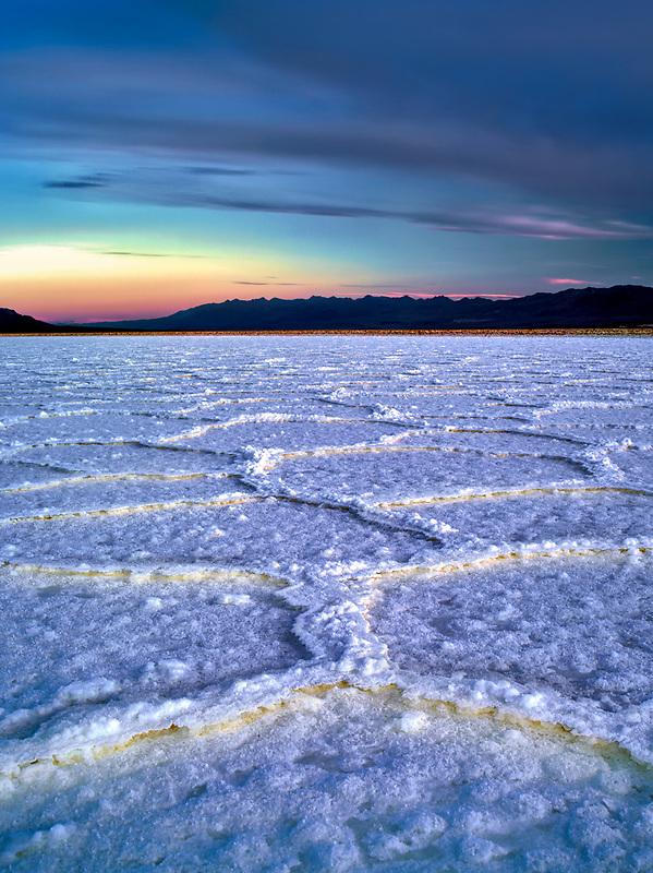 Salt polygons. Near Badwater. Death Valley National Park, California.