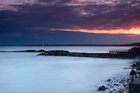 Lower Largo at dusk, the East Neuk of Fife, Fife
