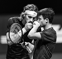 Rotterdam, The Netherlands, 3 march  2021, ABNAMRO World Tennis Tournament, Ahoy, First round doubles: Stefanos Tsitsipas (GRE) /Petros Tsitsipas (GRE). Photo: www.tennisimages.com/henkkoster