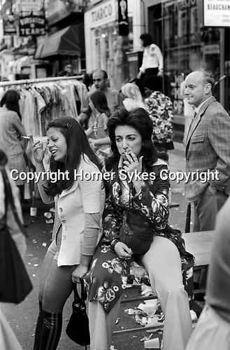 Beauchamp Place street party Knightsbridge London SW3 London 1971.