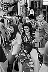 Beauchamp Place street party Knightsbridge London SW3 London 1971.