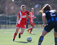 Charlotte Cranshoff (18) of Standard  pictured during a female soccer game between Club Brugge Dames YLA and Standard Femina de Liege on the 17 th matchday of the 2020 - 2021 season of Belgian Scooore Womens Super League , saturday 20 March 2021  in Brugge , Belgium . PHOTO SPORTPIX.BE   SPP   DAVID CATRY