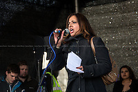 """Sabby Dhalu (Unite Against Fascism, UAF Assistant secretary).<br /> <br /> London, 22/03/2014. """"Stand Up To Racism & fascism - No to Scapegoating Immigrants, No to Islamophobia, Yes to Diversity"""", national demo marking UN Anti-Racism Day organised by TUC (Trade Union Congress) and UAF (Unite Against Fascism).<br /> <br /> For more information please click here: http://www.standuptoracism.org.uk/"""