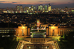 Nightime view of downtown Paris and the Palais de Chaillot, from the Eiffel Tower, France. .  John offers private photo tours in Denver, Boulder and throughout Colorado, USA.  Year-round. .  John offers private photo tours in Denver, Boulder and throughout Colorado. Year-round.