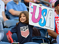 Seattle, WA - Thursday July 27, 2017: USA fans during a 2017 Tournament of Nations match between the women's national teams of the United States (USA) and Australia (AUS) at CenturyLink Field.