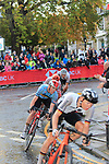 The lead group on the Harrogate circuit during the Men U23 Road Race of the UCI World Championships 2019 running 186.9km from Doncaster to Harrogate, England. 27th September 2019.<br /> Picture: Andy Brady | Cyclefile<br /> <br /> All photos usage must carry mandatory copyright credit (© Cyclefile | Andy Brady)