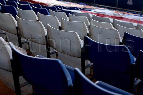 31st October 2020; Kenilworth Road, Luton, Bedfordshire, England; English Football League Championship Football, Luton Town versus Brentford; Empty seats are seen at Kenilworth Stadium due to the pandemic