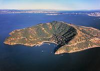 aerial photograph Angel Island Marin County, California