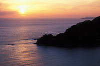 California, Marin County, Muir Beach, Sunset