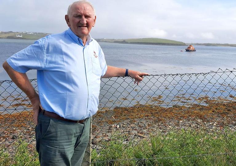 Achill Island RNLI's Tony McNamara