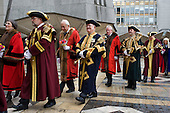 Aldermen, Sheriffs and Masters of City livery companies prepare to elect a new Lord Mayor of the City of London. The Lord Mayor is head of the City of London Corporation and represents the City's financial and other business services companies in the UK and overseas.