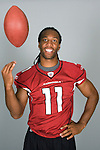 Arizona Cardinals wide receiver Larry Fitzgerald poses for a portrait.