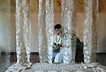 Burano, museo del Merletto, donne al lavoro 2004, Burano Museom of needle-lace, lace makers at work  © Fulvia Farassino