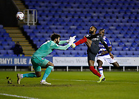 10th February 2021; Madejski Stadium, Reading, Berkshire, England; English Football League Championship Football, Reading versus Brentford; Rico Henry of Brentford clears the ball out of play