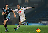 Luke O'Nien of Wycombe Wanderers & Curtis Thompson of Notts County battle for the ball during the Sky Bet League 2 match between Wycombe Wanderers and Notts County at Adams Park, High Wycombe, England on 15 December 2015. Photo by Andy Rowland.