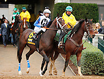 """October 03, 2015:   Sticksstatelydude and jockey Brian Hernandez Jr in the 102nd running of the Claiborne Breeders' Futurity (Grade 1) $500,000  """"Win and You're In Juvenile Division.""""  Candice Chavez/ESW/CSM"""