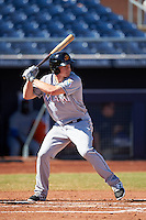 Mesa Solar Sox Dexter Kjerstad (19), of the Miami Marlins organization, during a game against the Peoria Javelinas on October 19, 2016 at Peoria Stadium in Peoria, Arizona.  Peoria defeated Mesa 2-1.  (Mike Janes/Four Seam Images)