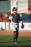 Richmond Flying Squirrels catcher Steven Lerud (19) before a game against the Erie SeaWolves on August 22, 2016 at Jerry Uht Park in Erie, Pennsylvania.  Erie defeated Richmond 4-2.  (Mike Janes/Four Seam Images)