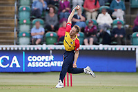 Jamie Porter in bowling action for Essex during Somerset vs Essex Eagles, Vitality Blast T20 Cricket at The Cooper Associates County Ground on 9th June 2021