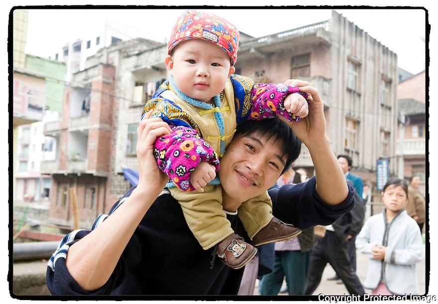 Chine- Marché de Wanxian.