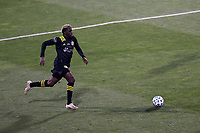 COLUMBUS, OH - DECEMBER 12: Gyasi Zardes #11 of the Columbus Crew runs with the ball during a game between Seattle Sounders FC and Columbus Crew at MAPFRE Stadium on December 12, 2020 in Columbus, Ohio.