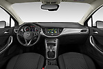 Stock photo of straight dashboard view of 2020 Opel Astra-Sport-Tourer Edition 5 Door Wagon Dashboard