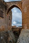 Bellver Castle Castillo tower in Majorca at Palma de Mallorca, Balearic Islands, Spain