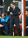 31/10/2009  Copyright  Pic : James Stewart.sct_jspa19_motherwell_v_hearts  . :: HEARTS MANAGER CSABA LASZLO DURING THE GAME AGAINST MOTHERWELL :: .James Stewart Photography 19 Carronlea Drive, Falkirk. FK2 8DN      Vat Reg No. 607 6932 25.Telephone      : +44 (0)1324 570291 .Mobile              : +44 (0)7721 416997.E-mail  :  jim@jspa.co.uk.If you require further information then contact Jim Stewart on any of the numbers above.........