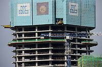 ETHIOPIA , Addis Ababa, chinese office tower and Bank building construction by CSCEC China State Construction Engineering Corporation Ltd. / AETHIOPIEN, Addis Abeba, Baustellen chinesischer Baufirmen