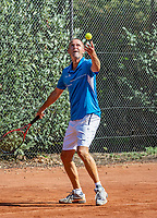 Hilversum, The Netherlands, September 2, 2018,  Tulip Tennis Center, NKS, National Championships Seniors, Men's 55+ final: Wim Bruggink (NED) <br /> Photo: Tennisimages/Henk Koster