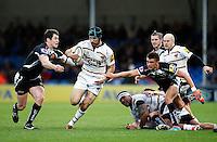 Photo: Richard Lane/Richard Lane Photography. Exeter Chiefs v Wasps. Aviva Premiership. 22/11/2014.  Wasps' Chris Bell attacks.