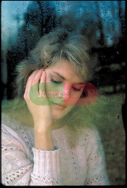 contemplative woman