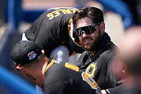 Pittsburgh Pirates Will Craig (35) before a Major League Spring Training game against the Toronto Blue Jays on March 1, 2021 at TD Ballpark in Dunedin, Florida.  (Mike Janes/Four Seam Images)