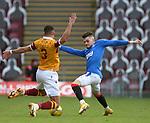 17.01.2021 Motherwell v Rangers: Ianis Hagi and Jake Carroll
