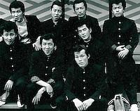 Gruppenfoto in Filmstudio in Kyoto, Japan