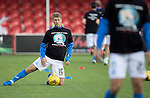 Hamilton Accies v St Johnstone…25.09.16.. New Douglas Park   SPFL<br />David Wotherspoon wearing a suicide prevention t-shirt during warm-up<br />Picture by Graeme Hart.<br />Copyright Perthshire Picture Agency<br />Tel: 01738 623350  Mobile: 07990 594431