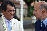 Edouard Fritch & Alain JuppÈ -<br /> Deplacement d'Alain JuppÈ a Tahiti dans le cadre de sa campagne pour les primaires aux elections presidentielles.